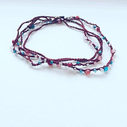 bracelet sautoir bordeaux