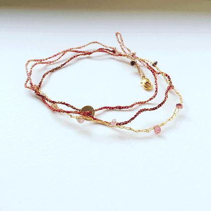 bracelet rose doré