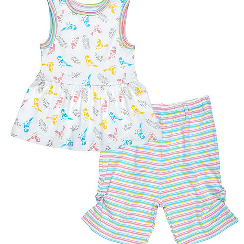 Dress with Capri Pants Babybirds