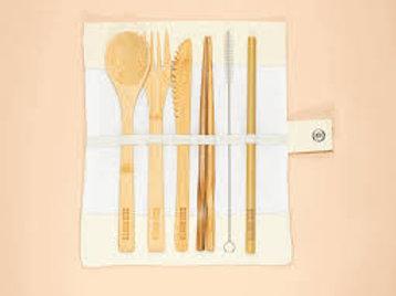 Reusable Bamboo Cutlery - Set of 5