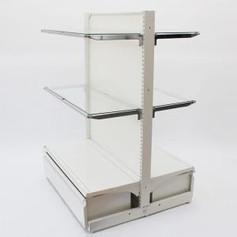 両面ゴンドラセット(ガラス棚4枚+ロールインボックス)