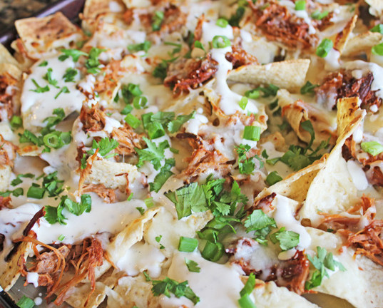BBQ Ranch Pulled Pork Nachos