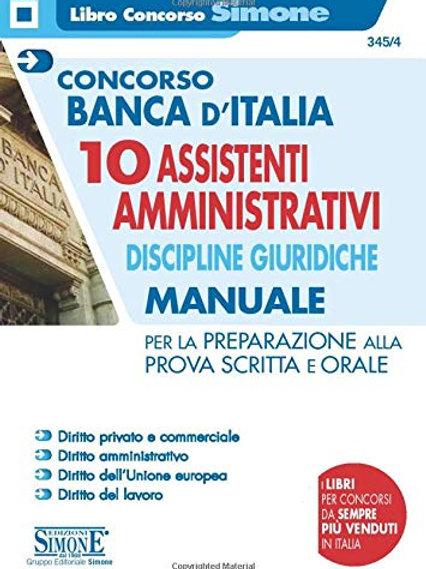 Concorso Banca d'Italia. 10 assistenti amministrativi. discipline giuridiche