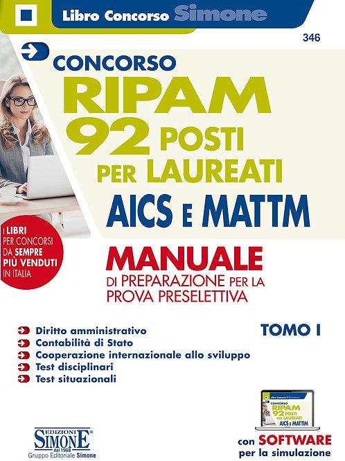 Concorso Ripam. 92 posti per laureati AICS e MATTM. Manuale di preparazione