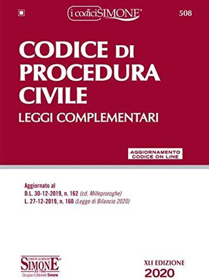 Codice di procedura civile. Leggi complementari. Con aggiornamento online