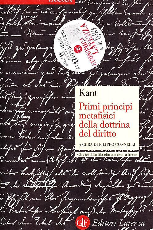 Primi principi metafisici della dottrina del diritto di Immauel Kant