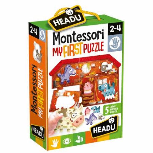 My first puzzle. The farm. Montessori
