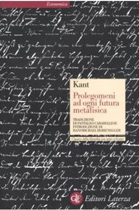 Prolegomeni ad ogni futura metafisica di Immauel Kant