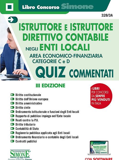 Istruttore e istruttore direttivo contabile negli enti locali. Quiz commentati.