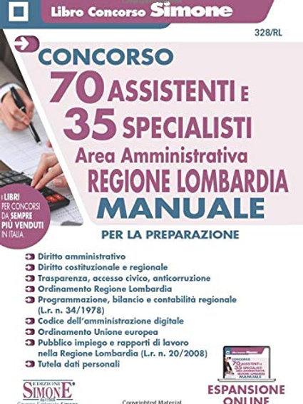 Concorso 70 Assistenti e 35 Specialisti - Area amministrativa - Regione Lombardi