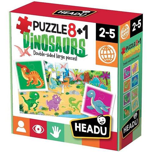 Puzzle 8+1. Dinosaurs