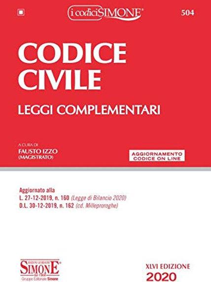 Codice civile. Leggi complementari. Con aggiornamento online