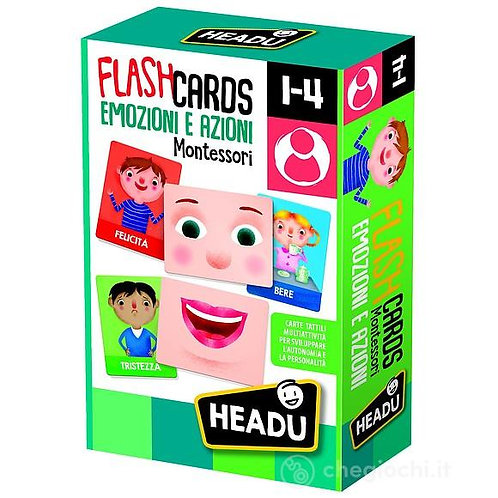 Flashcards. Emozioni e Azioni Montessori