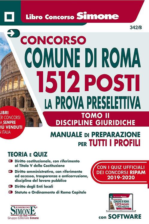 Concorso comune di Roma 1512 posti tomo II