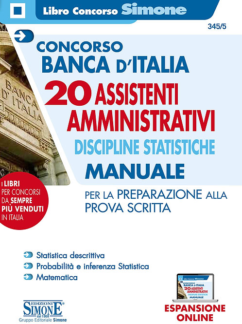 Concorso Banca d'Italia. 20 assistenti amministrativi. Discipline statistiche