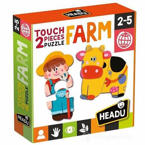 2 touch pieces puzzles. Farm