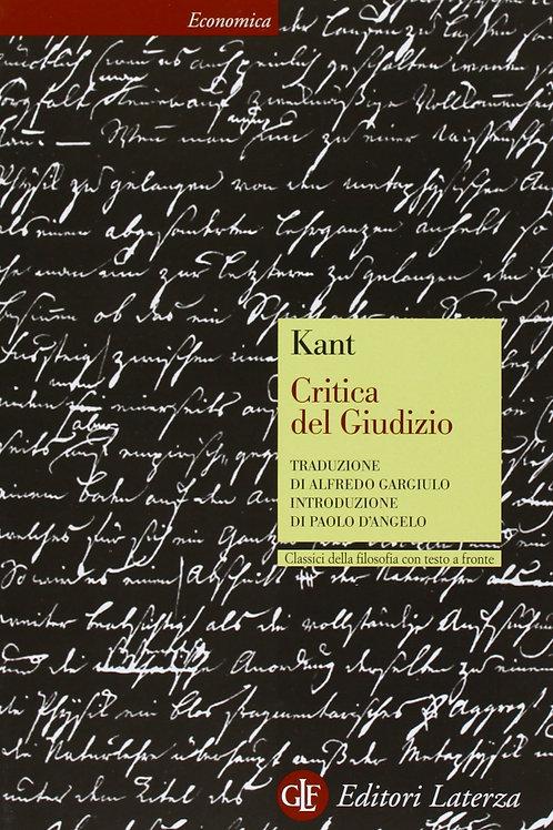Critica del Giudizio di Immauel Kant