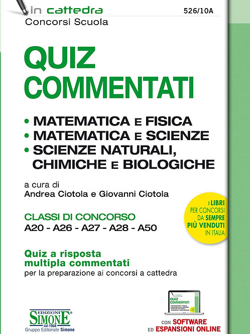 Quiz commentati matematica e fisica