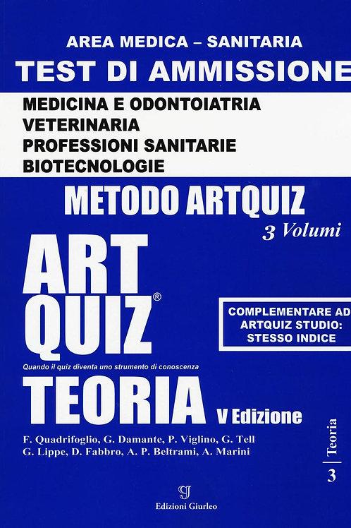 Artquiz teoria. Test di ammissione per Medicina, Odontoiatria, Veterinaria, Prof