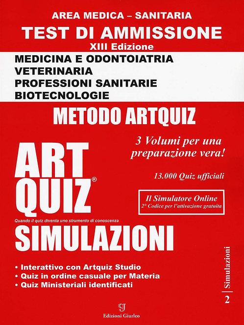 Artquiz Simulazioni. XIII Edizione A.A.2020-21. Test Di Ammissione per Medicina,