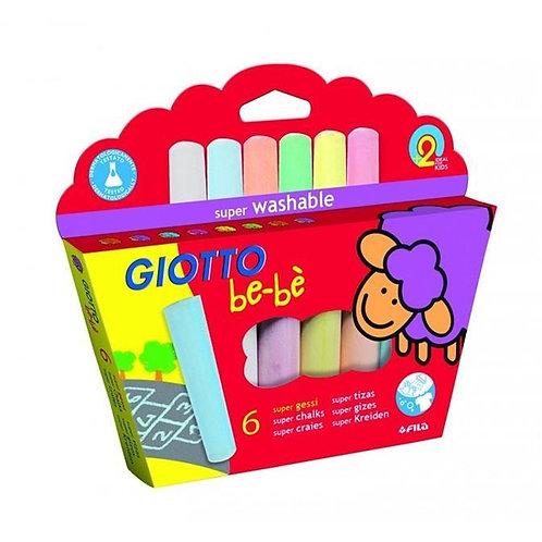 GIOTTO be-bè. 6 gessi colorati per i più piccoli