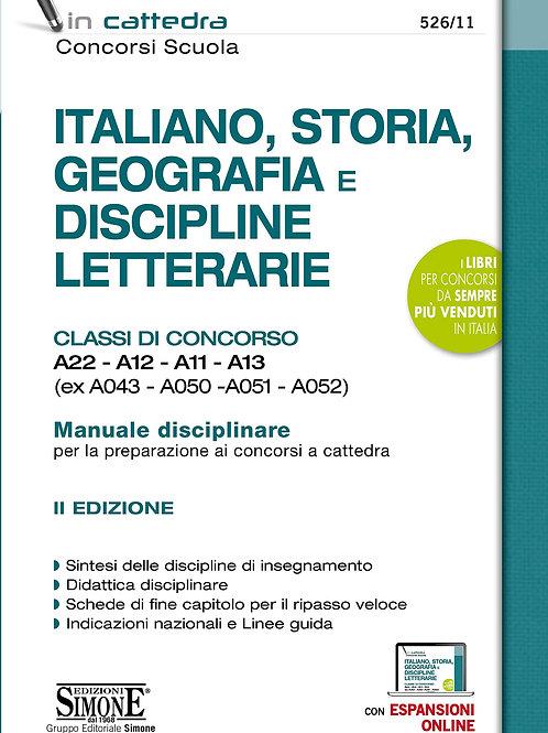 Italiano, storia, geografia e discipline letterarie. Classi di concorso A22-A12-