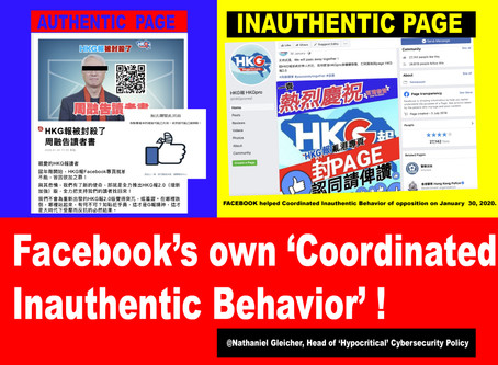 Hong Kong Intelligence Report #29 Coordinated Inauthentic Behavior of Nazi-FACEBOOK Censorship