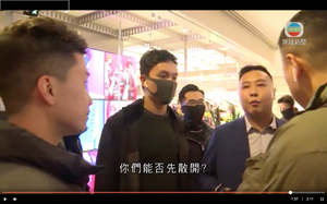 FILE PHOTO: One of real estate oligarchs, Wheelock and Company Limited's security staff evicted police from its Harbour City and let black shirted rioters to harass tenants on December 21, 2019. Screenshot© Ryota Nakanishi