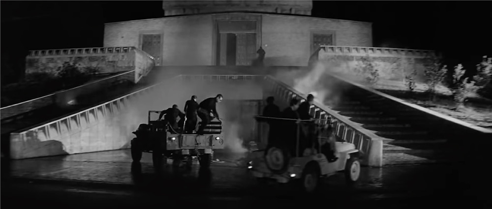FILE PHOTO: The final battle at a church in The Last Man on Earth (1964). ©Public Domain
