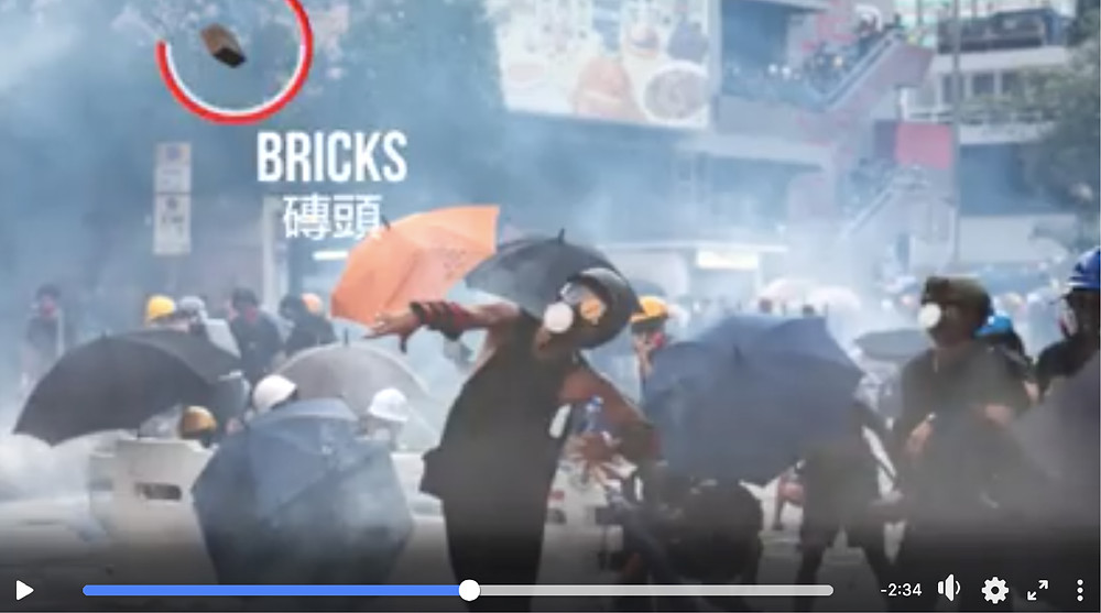 FILE PHOTO: A Video image on Anti-Extradition Bill Protest Tactics and Organisations   Image: Public Domain