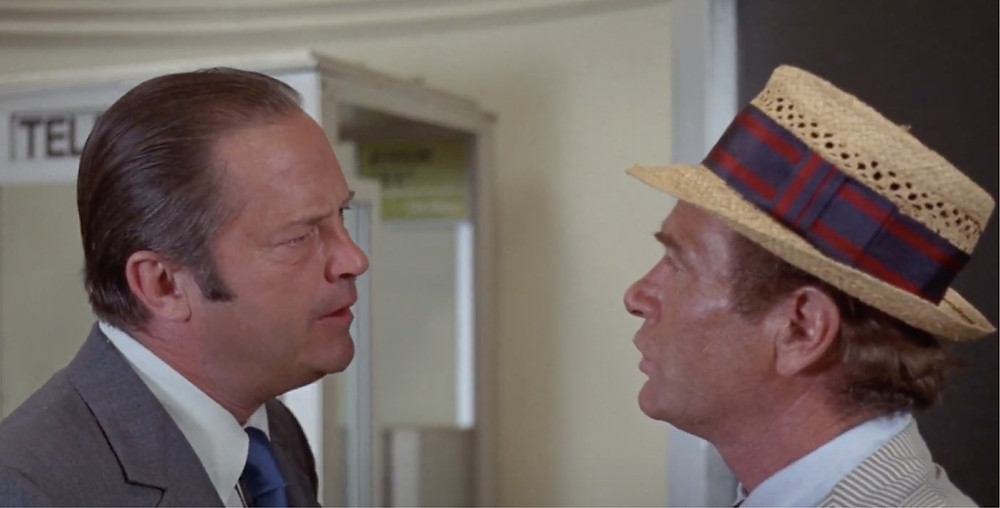 FILE PHOTO: Fig.1 Bernie Jenks warns Kolchak at ACT1 in The Night Stalker (1972).   ©ABC