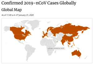 FILE PHOTO: CDC confirmed global cases around the world and updates everyday.  Image: CDC