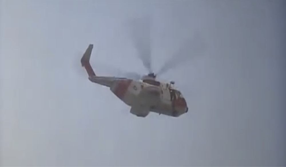 Fig.40 After the explosion of the monster, a rescue helicopter leaves with protagonists.  Image: Youtube