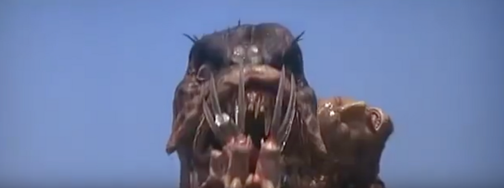 Fig.35 Medium close up of the creature from the front.  Image: Youtube