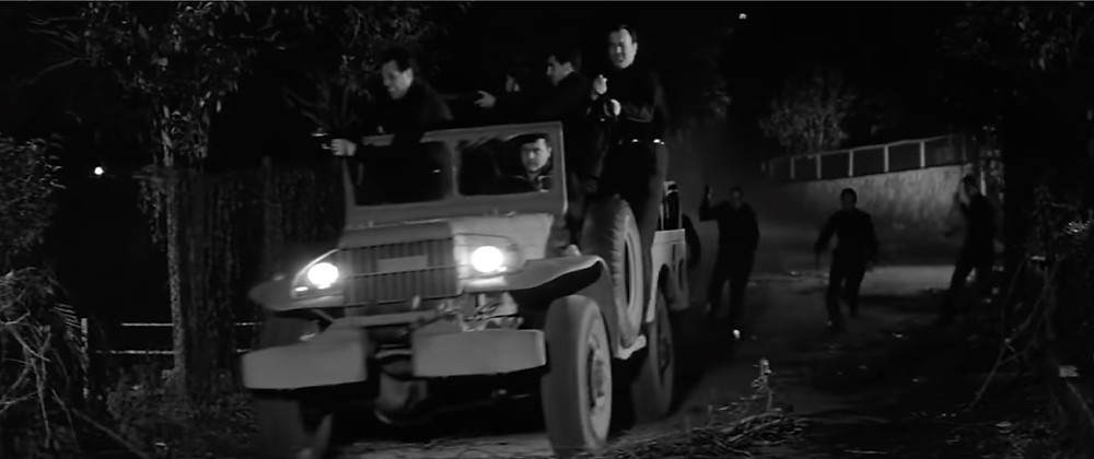 FILE PHOTO: Ruth's black-shirted militant vanguard in The Last Man on Earth (1964). ©Public Domain