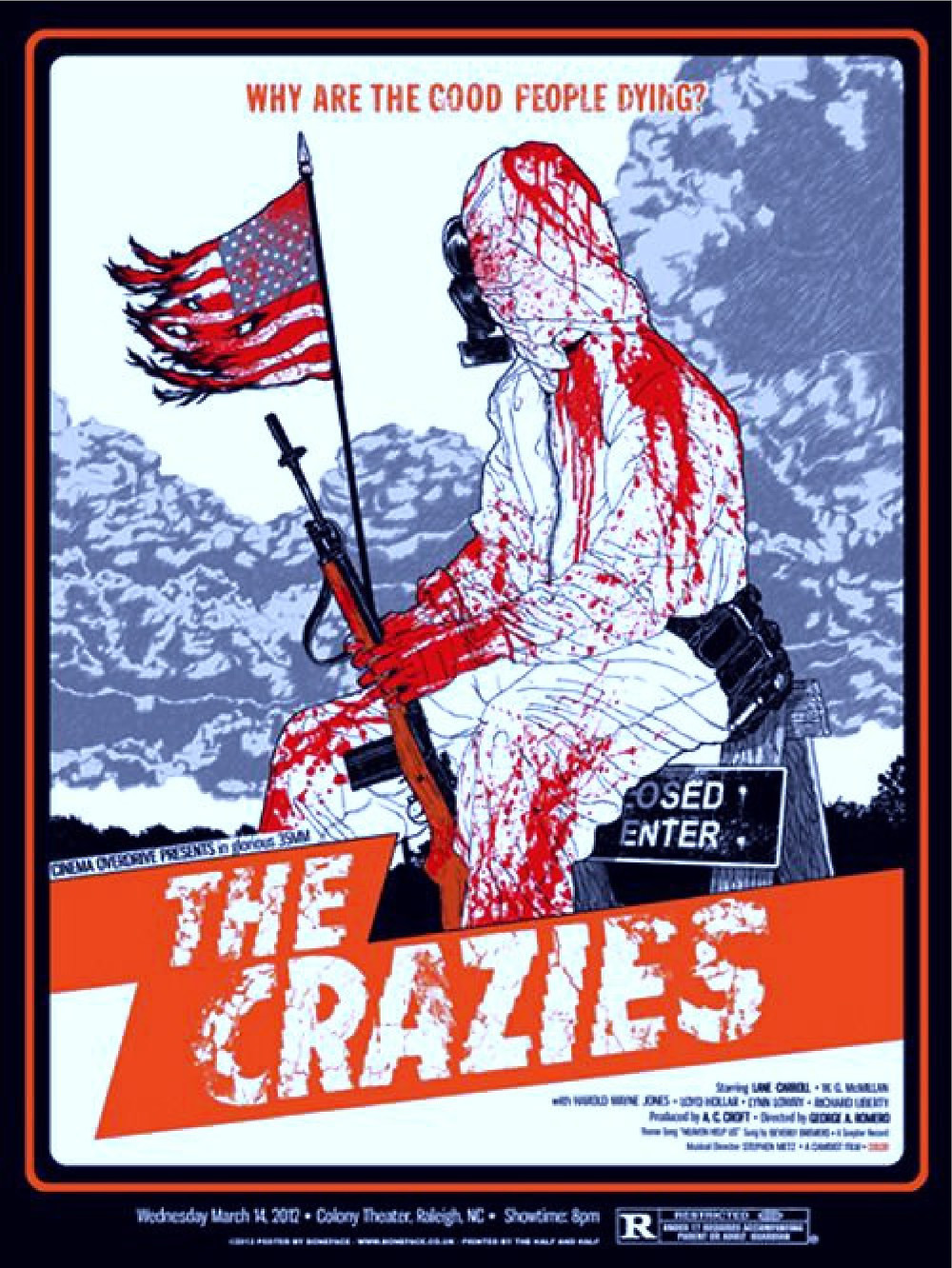 FILE PHOTO: A Poster of The Crazies (1973) ©Pinterest