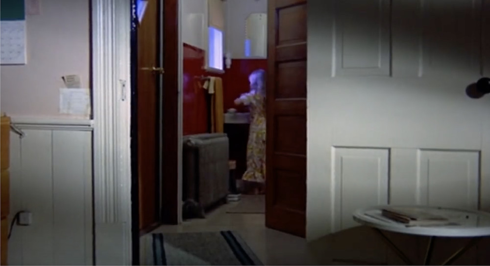Fig.17:  A wide shot of a girl walks into dining room.  ©Youtube