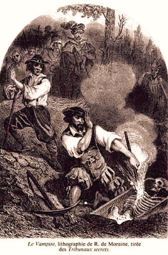 "FILE PHOTO:  ""The Vampire"", lithograph by R. de Moraine (1864).  ©Public Domain"