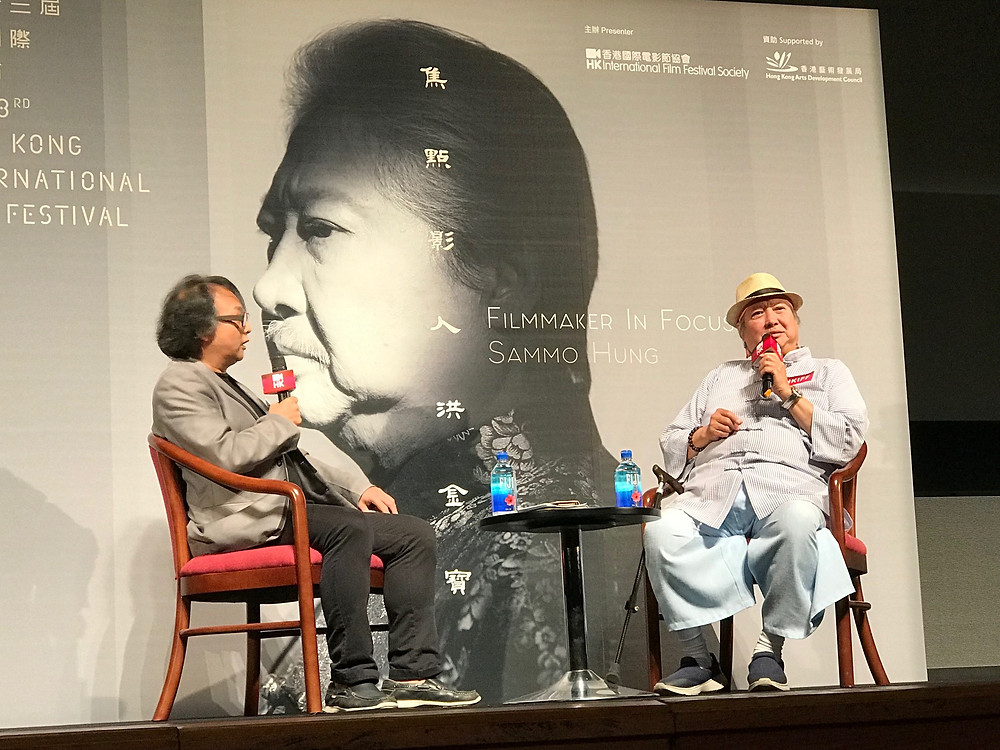 FILE PHOTO: The left is HK critic Lam Chiu-wing (林超榮) and the right is Sammo Hung(洪金寶)©Ryota Nakanishi
