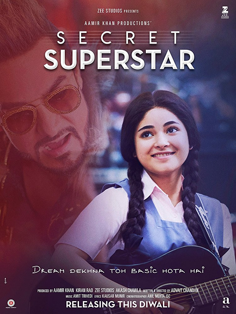 FILE PHOTO: A Poster of SECRET SUPERSTAR (2018). ©Zee Studios