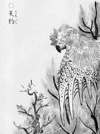 FILE PHOTO: A paint of Tengu.  Image: Public Domain