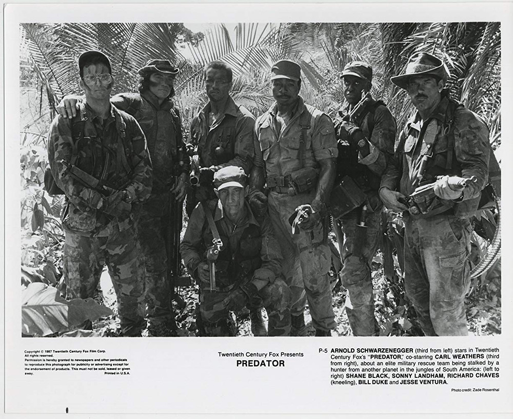 FILE PHOTO: A Promotional Image of THE PREDATOR (1987). ©Twentieth Century Studios