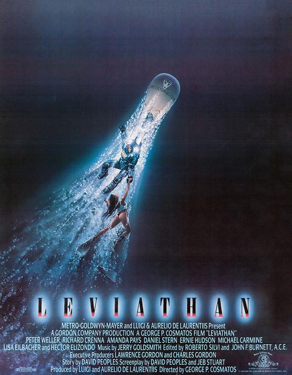 FILE PHOTO: A Poster of LEVIATHAN《烈血海底城》(1989) ©Filmauro
