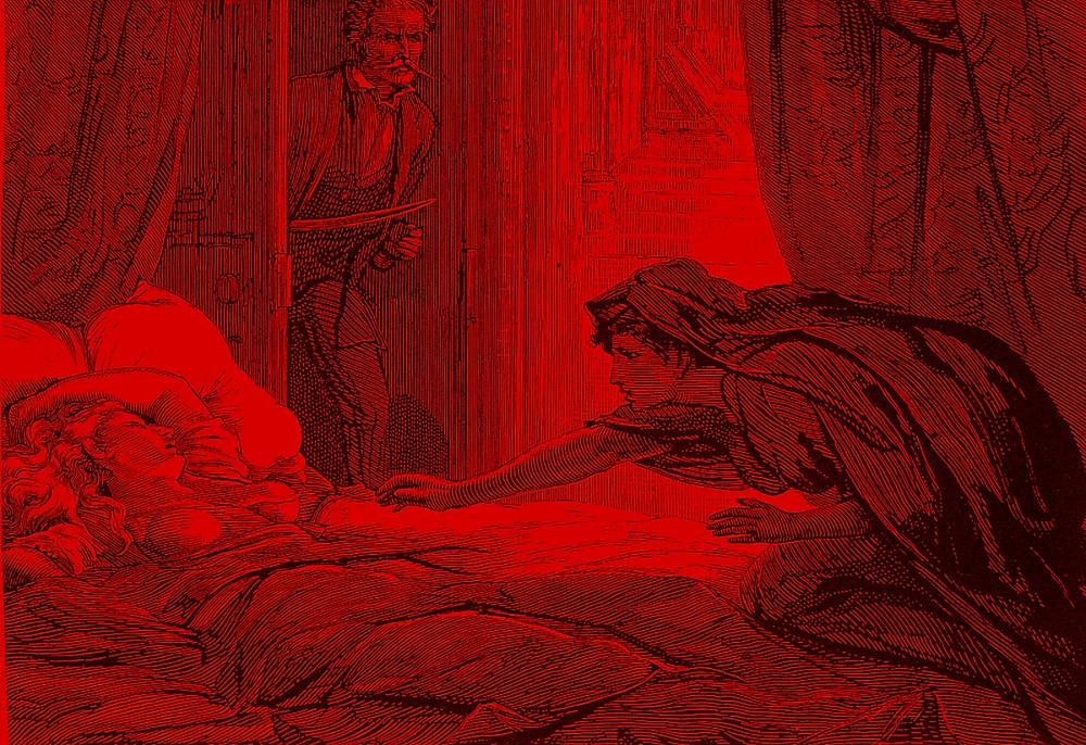 FILE PHOTO: Illustration in Carmilla, Joseph Sheridan Le Fanu's vampire story. © Public Domain
