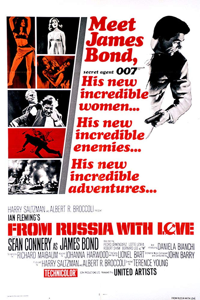 FILE PHOTO: A Poster of FROM RUSSIA WITH LOVE (1963). ©United Artists Releasing