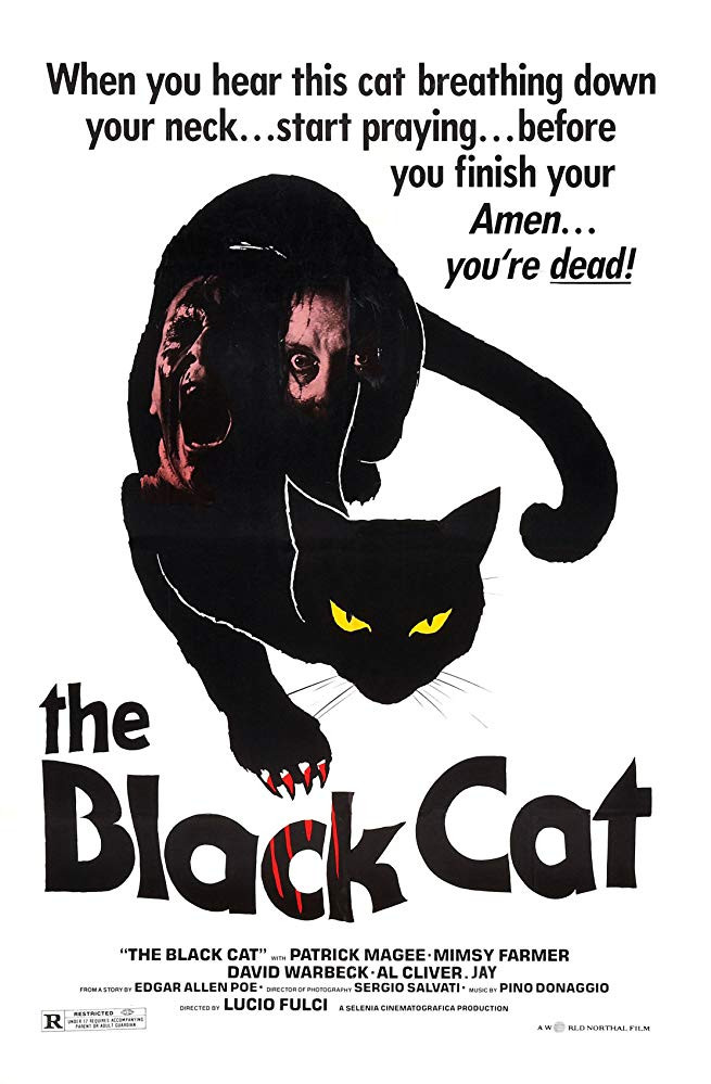 FILE PHOTO: A Poster of THE BLACK CAT (1981 film). ©Selenia Cinematografica S.r.l.