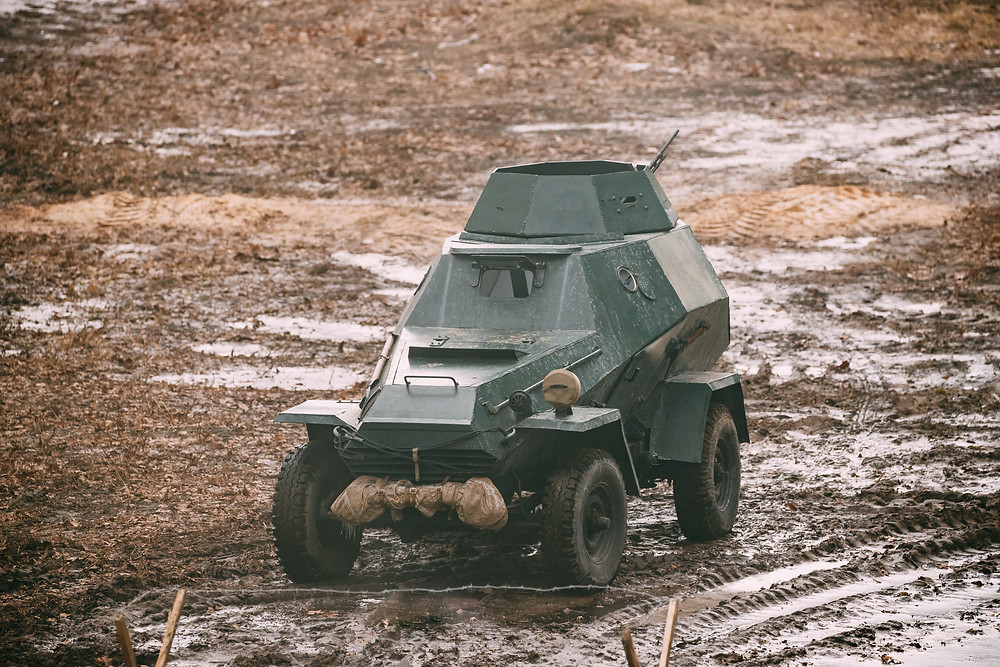 FILE PHOTO: Russian Soviet Red Army Armored Soviet Scout Car In Autumn Count  ©envato / Grigory_bruev