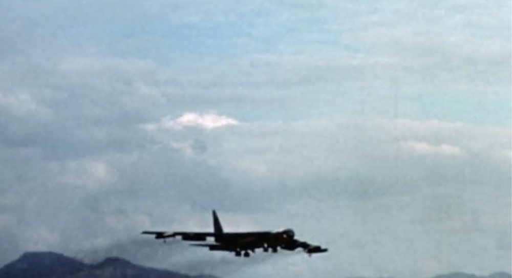Fig.25:  Footage shows bomber flies away.  ©Youtube