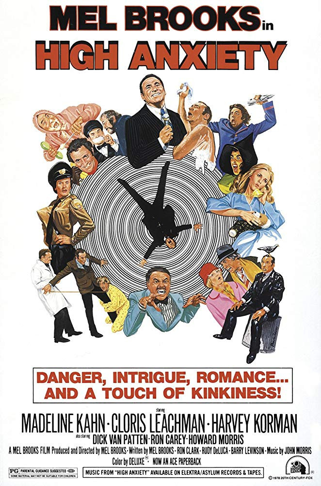 FILE PHOTO: A Poster of HIGH ANXIETY (1977).  ©20th Century Studios