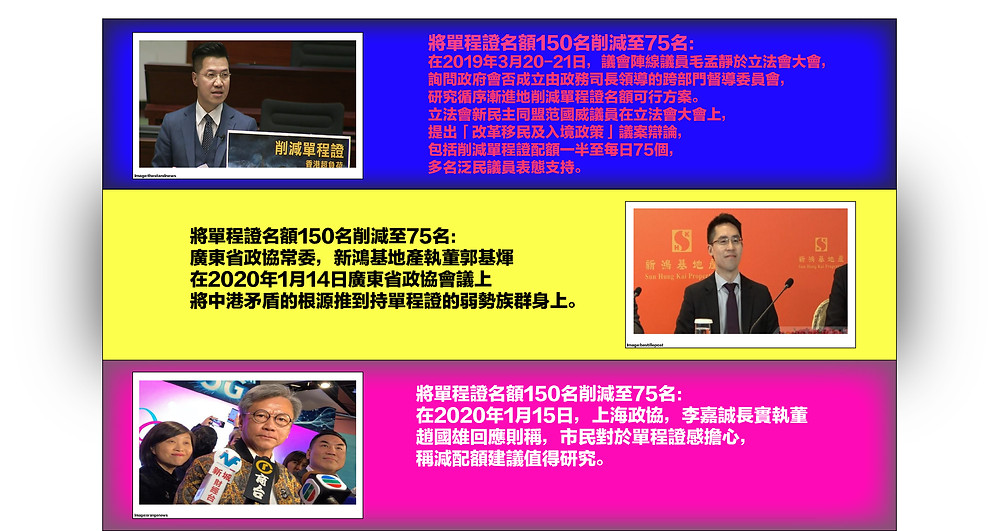PHOTO FILE: Anti China oligarchs infiltrated the failed united front tactic CPPCC to promote the decrease of the allocated quota of People's Republic of China Permit for Proceeding to Hong Kong and Macao to make minorities as scapegoats. Infographic © Ryota Nakasnishi